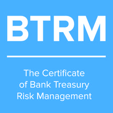 The Certificate of Bank Treasury Risk Management (BTRM) logo