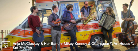 Anja McCloskey & Her Band + Mikey Kenney & Ottersgear...
