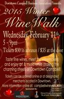Downtown Campbell Winter Wine Walk (02/11/2015)