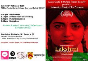 Charity Screening of LAKSHMI, Asian Circle & OIS