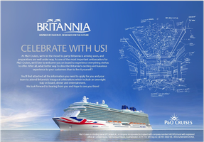 P&O Cruises Britannia Inaugural Event - Tuesday March...