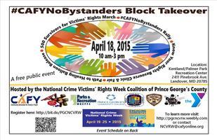 #CAFYNoBystanders Block Takeover Vendor/Participant...
