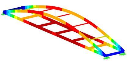 Parametrische invoer van Boogbrug in RFEM...