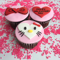 Hello Kitty Valentine's Day Cupcake Party
