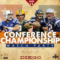 Conference Championship Watch Party at Diego | 1.18