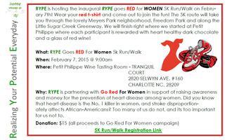 RYPE goes RED for WOMEN 5K Fun Run/Walk