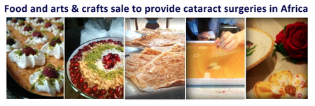 Food and Art Sale for 100 Cataract Surgery in Africa