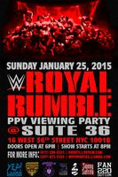WWE ROYAL RUMBLE VIEWING PARTY @ SUITE 36 NYC
