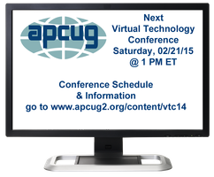 APCUG's 2015 Winter Virtual Technology Conference