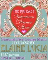 Valentines Dinner Show with Elaine Lucia