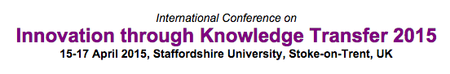 Innovation Through Knowledge Transfer 2015
