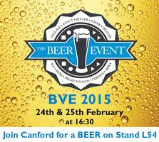 Canford Beer Event at BVE 2015