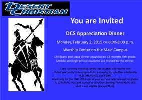 DCS Appreciation Dinner 2015