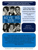 """""""Forty Years Later: Now Can We Talk?"""": Film Screening..."""