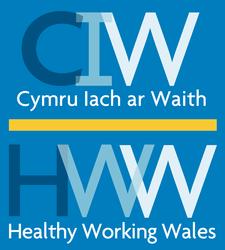 Cymru lach ar Waith / Healthy Working Wales logo