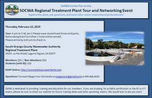 SARBS SOCWA RTP Plant Tour and Networking Event