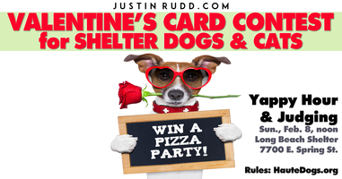 Valentine's Yappy Hour at the Long Beach animal shelter