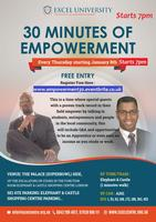 EXCEL Presents 30 minutes of Empowerment * 7PM -...