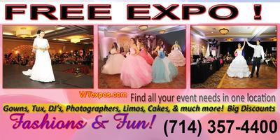 FREE WEDDING QUINCEANERA  ALL EVENT EXPO! SUNDAY...