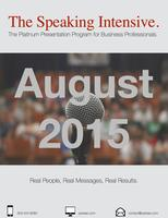 The Speaking Intensive August 2015