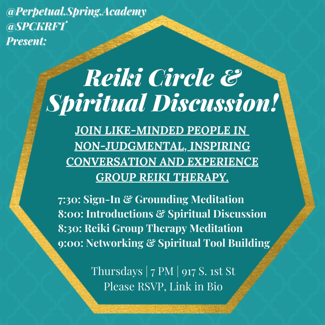 Reiki Circle & Spiritual Discussion!