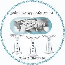 John T. Maxey Incorporated in cooperation with John T. Maxey Lodge No. 74 logo