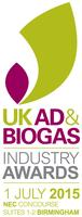 UK AD & Biogas Industry Awards 2015