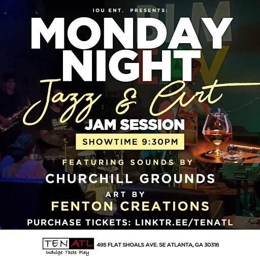 Monday Night Jazz & Art Jam Session featuring Churchill Grounds