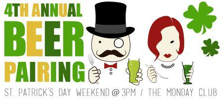 4TH ANNUAL BEER PAIRING FUNDRAISER   At the Historic Monday...