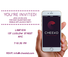 The Cheekd Valentine's Day Mobile App Launch Party