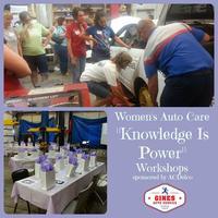 Women's Auto Care Workshop - Thrs. April 16th 2015