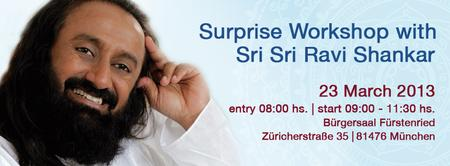 Surprise Workshop with Sri Sri Ravi Shankar