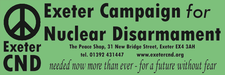 Exeter Campaign for Nuclear Disarmament logo