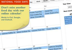 National Food Days Calendar