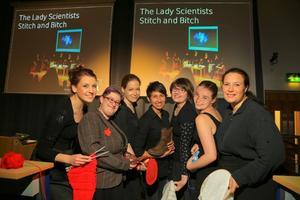Lady Scientist Stitch and Bitch