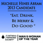 Michelle Hines Abram 2013 Candidate for LLS Woman of the Year logo