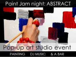 Paint Jam Night 'ABSTRACT' - Sat 21 Mar - a POP-UP...