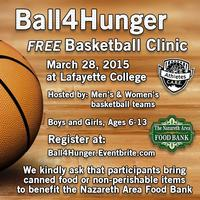 Ball4Hunger - FREE Lafayette College Basketball Clinic