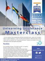 """United Nations Masterclass on """"Unlearning Intolerance"""""""