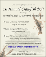 1st Annual Crawfish Boil by Live Oak Professionals...