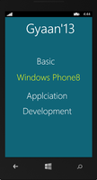 GYAAN'13 :  Basic Mobile  Application Development