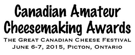 2015 Canadian Amateur Cheesemaking Awards