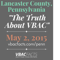 """Lancaster County, PA """"Truth About VBAC"""" Workshop with..."""