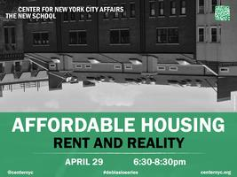 De Blasio Series--Affordable Housing: Rent and Reality