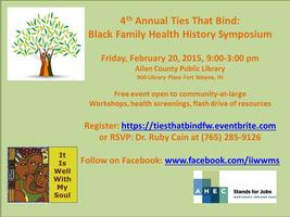 4th Annual Ties That Bind: Black Family Health History...