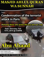 """CONDEMNING THE TERRORIST ATTACK ON PARIS"""" AND..."""