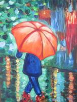Tipsy Muse, April Showers painting class at Boots...