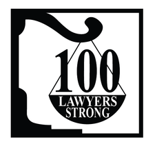 100 LAWYERS STRONG logo