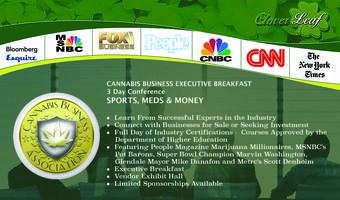 Cannabis Business Executive Breakfast - 3 Day...