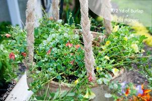 Garden Upcycling: Make a Burlap Hanging Planter
